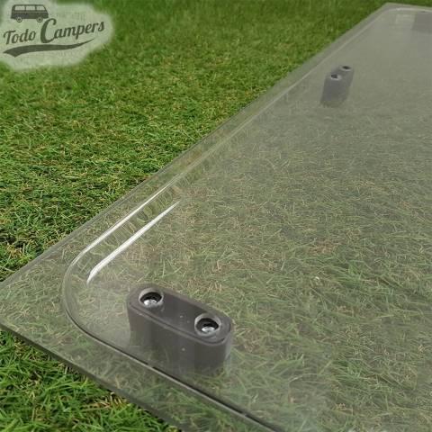 Cristal compatible Ventanas Dometic Seitz S3, S4 y S5 - Detalle Esquina por fuera