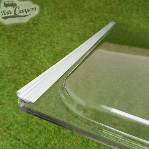 Cristal compatible Ventanas Dometic Seitz S3, S4 y S5 - Detalle Perfil metálico