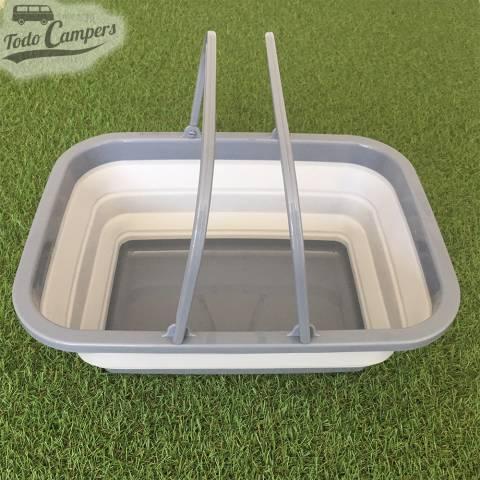 Cesto plegable gris con asa - Tamaño XL