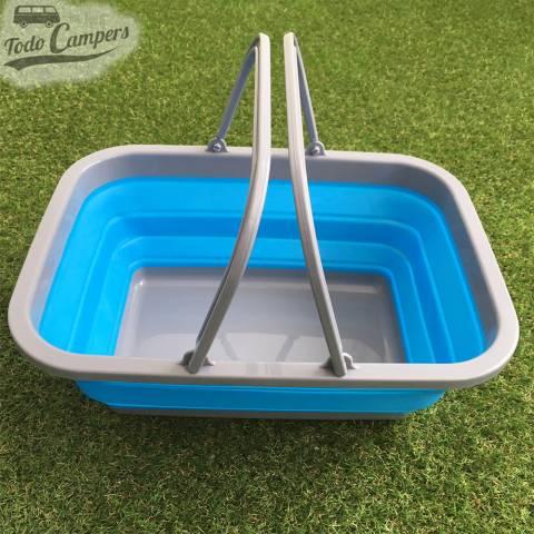 Cesto plegable azul con asa - Tamaño XL
