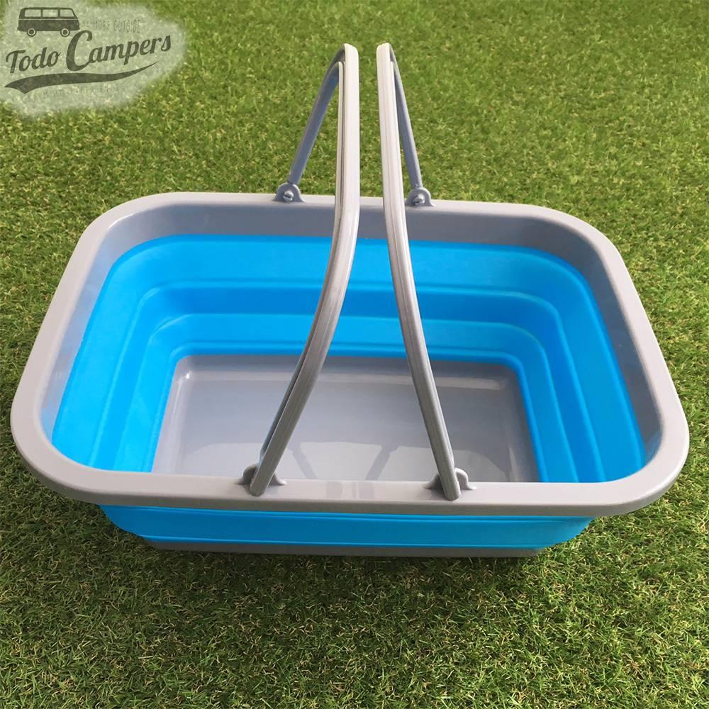 Cesto Plegable con asa color Azul - Tamaño XL