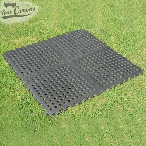 Placas de suelo combinables multi-funcionales. Para ducha, interior y exterior. Furgoneta camper, autocaravana o caravana