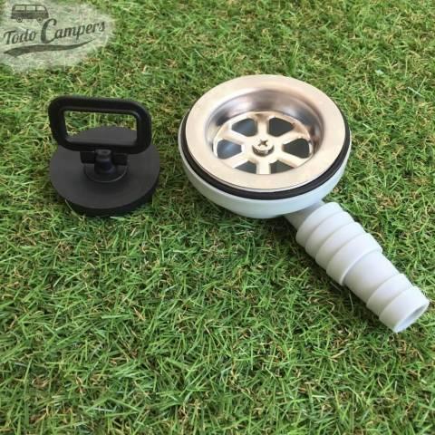 Desagüe en codo - Salida 19 mm ó 25mm, Tipo E