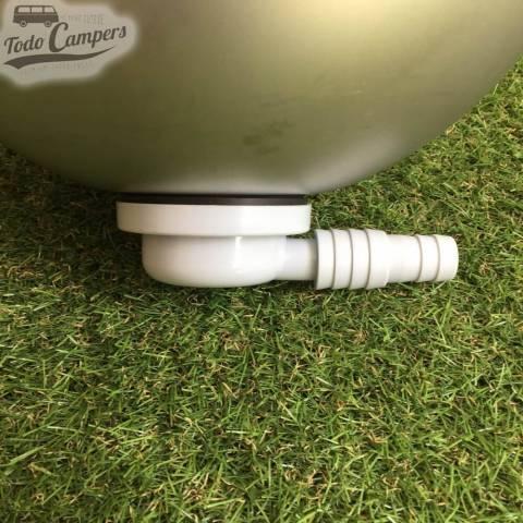 Desagüe en codo - Salida 19 mm ó 25mm, Tipo E, montado en un fregadero
