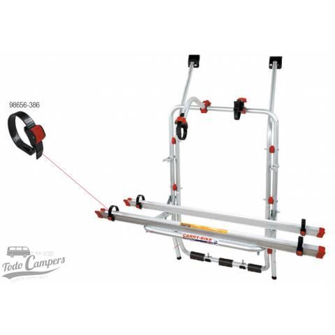 Cincha corrediza para una sujeción rápida y segura de la rueda al carril de tu Carry Bike.