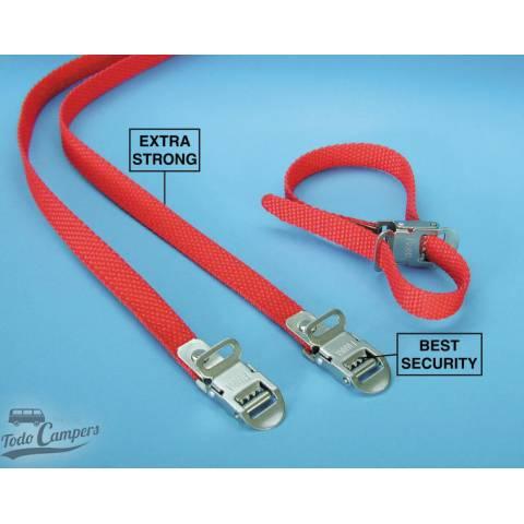 Pack de 2 Cinchas Rojas seguridad para portabicicletas Fiamma