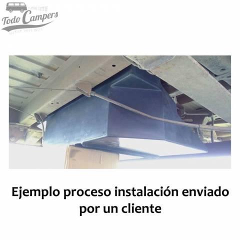 Instalación de depósito de agua en Fiat Ducato. Depósito de aguas limpias y grises para tu furgoneta