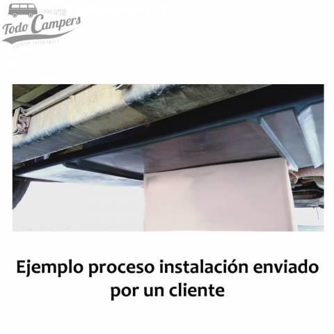Instalación de depósito de agua 80 litros en Fiat Ducato X244. Depósito de aguas limpias y grises para tu furgoneta