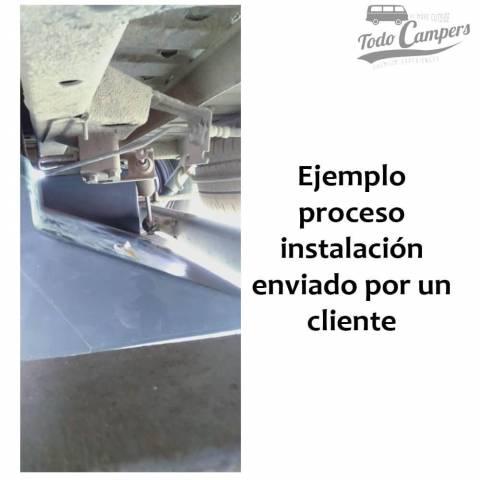 Instalación de depósito de agua 80 litros en Fiat Ducato X230 y X244. Depósito de aguas limpias y grises para tu furgoneta