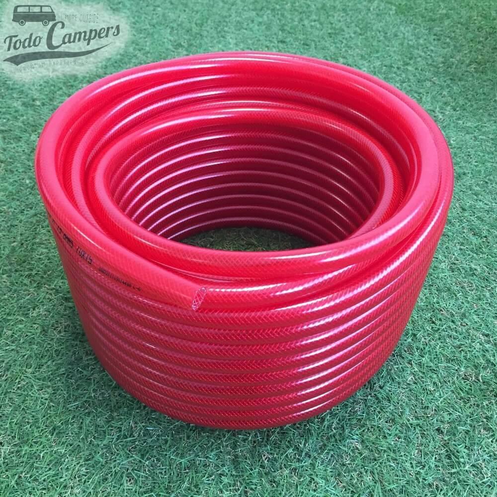 Manguera roja 10mm - rollo