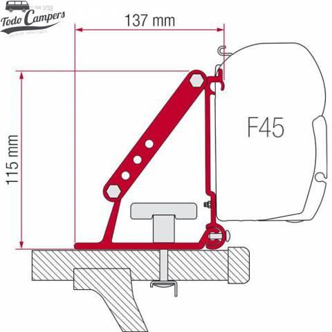 Medidas soporte para toldo Fiamma F35 / F45s