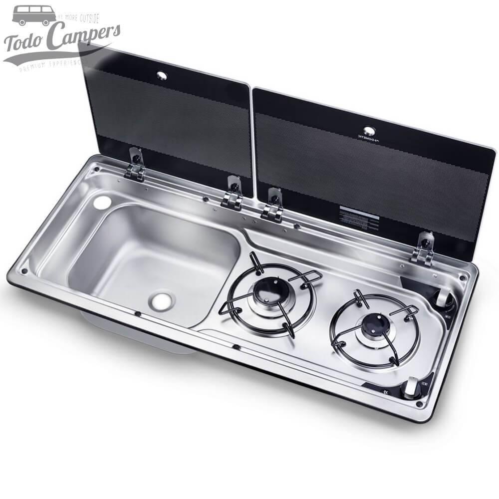 Cocina-Fregadero Dometic MO9722L - Tapas Levantadas