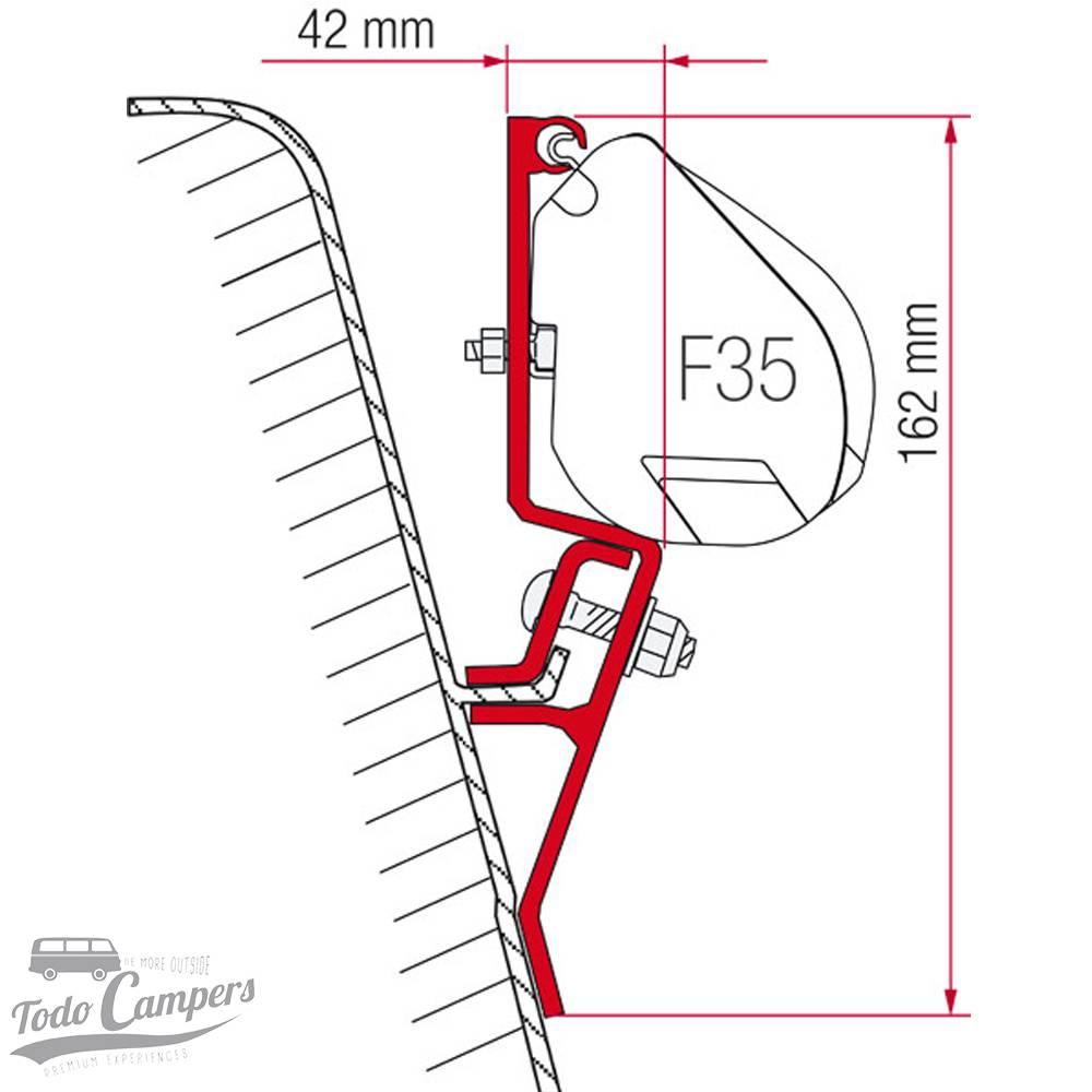 Soporte Toldo Fiamma F35 Pro - Volkswagen T3