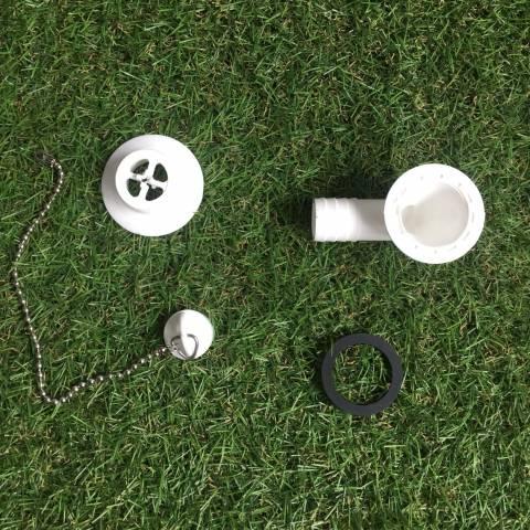 Desagüe en codo - Salida 20mm, Tipo H (encastre 31mm) - Trigano