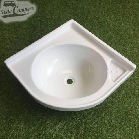 Lavabo de Esquina 420 x 420 mm - desde arriba