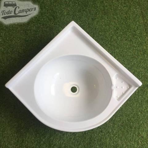 Lavabo de Esquina 420 x 420 mm - vista superior
