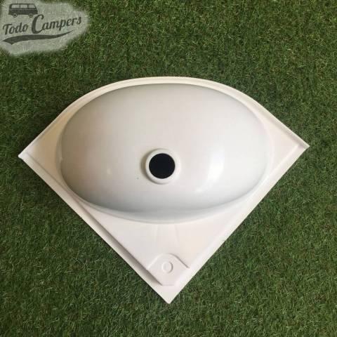 Lavabo de Esquina para caravaning y camper 33,5 x 33,5 cm