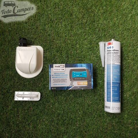 Placa Solar Rígida Monocristalina 120W - Componentes del kit