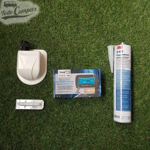 Placa Solar Rígida Monocristalina 140W - Componentes del kit