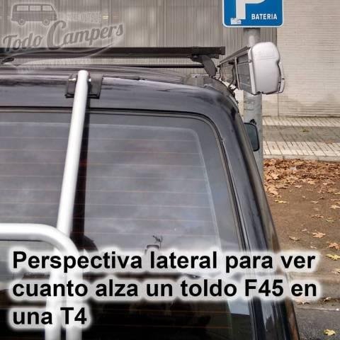 Toldo Fiamma F45s - Perspectiva lateral en Volkswagen T4