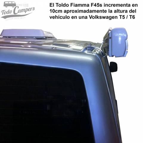 Toldo Fiamma F45s - Vista trasera en Volkswagen T5 y T6