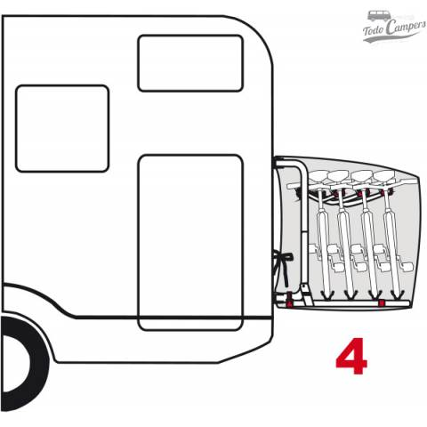Funda modelo Cover S para proteger tus bicicletas. Válido para 4 bicicletas