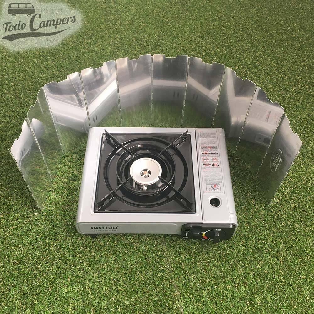 Protector viento cocina hornilla de gas