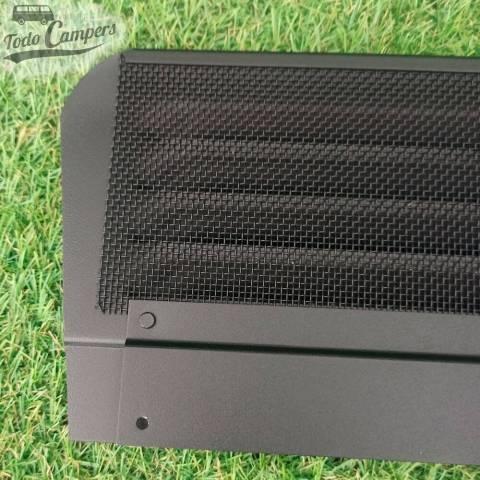 AirVent con rejilla mosquitera de aluminio negro super resistente.