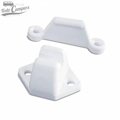 Cierre de retención para cajones de plástico blanco de la marca Reimo