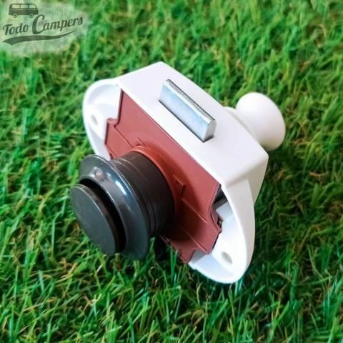 Cierre de pulsador doble de color GRIS para puertas y cajones 15mm