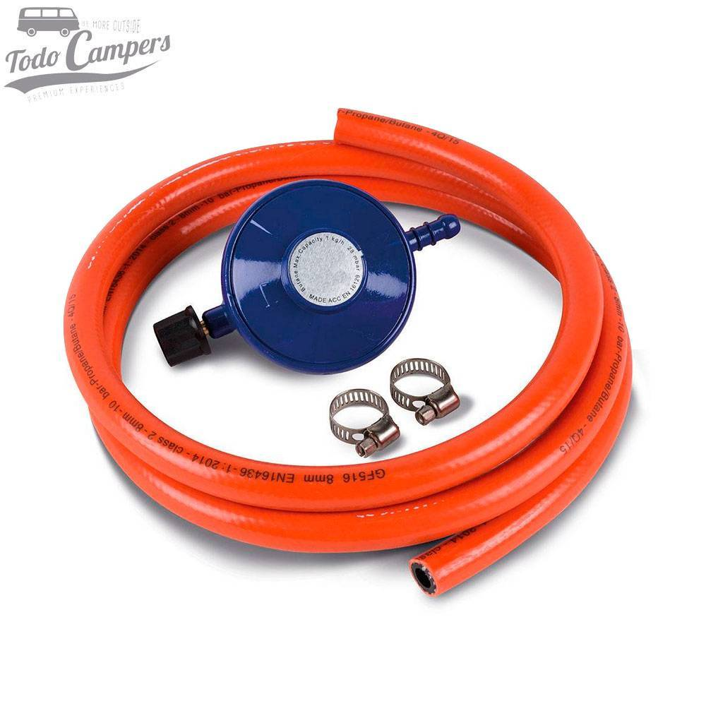 Kit Regulador gas butano (Bombona azul universal)
