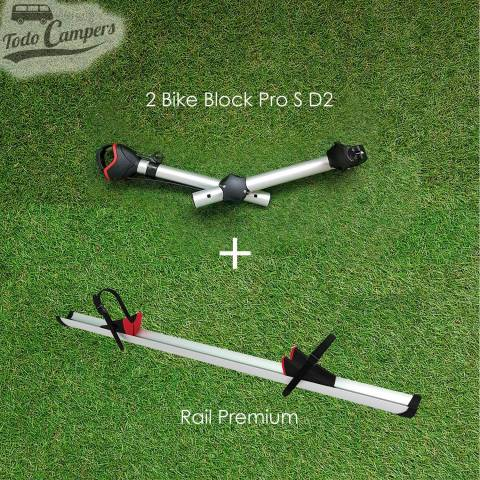 Kit de ampliación de 2 a 3 bicicletas (Rail Premium y Brazo Block Pro S D2) - Negro