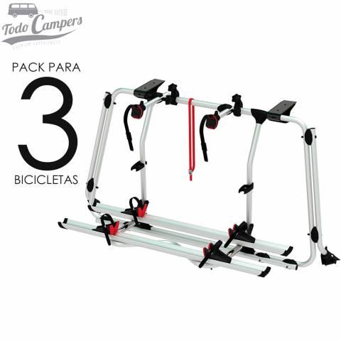 Portabicicletas Fiamma Carry Bike PRO para Volkswagen T6 con Portón Trasero Abatible - 3 BICIS