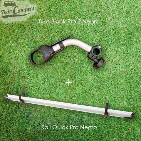 Kit de ampliación de 2 a 3 bicicletas (Rail Quick Pro y Brazo Block Pro 2) - Negro