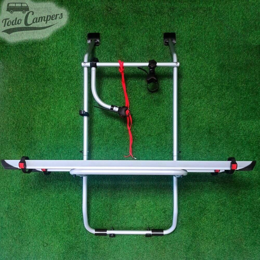 Portabicicletas Fiamma Carry Bike para Volkswagen T4 con Portón Trasero Abatible - 2 BICIS (Rojo)