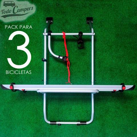 Portabicicletas Fiamma Carry Bike para Volkswagen T4 con Portón Trasero Abatible - 3 BICIS
