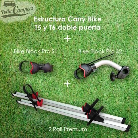 accesorios de serie del Portabicicletas Fiamma Carry Bike para Volkswagen T5 Y T6 con doble puerta trasera