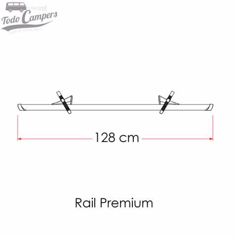 Medidas Rail Quick Pro que viene de serie en el portabicicletas