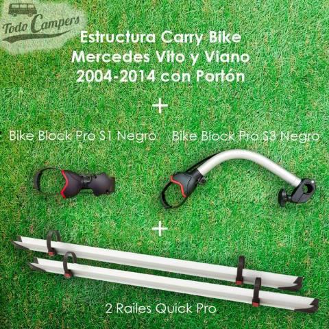 Contenido de serie del Portabicicletas Fiamma Carry Bike para Mercedes Vito y Viano de Chasis W639
