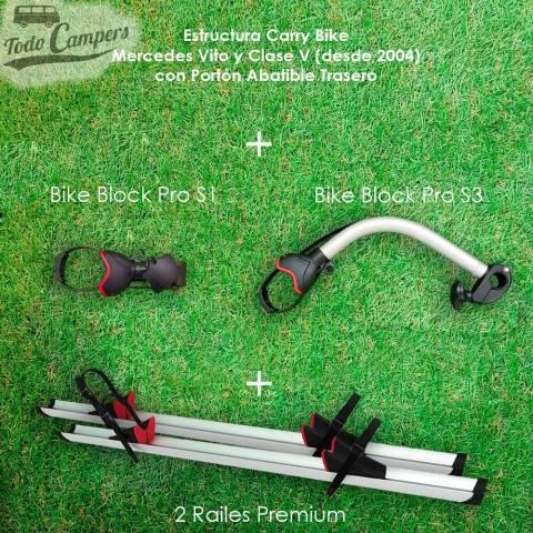 Railes y brazos de serie del Portabicicletas Fiamma Carry Bike Class Premium