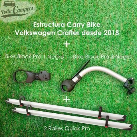 Brazos y railes de serie en el portabicicletas Carry Bike para Volkswagen Crafter desde 2017