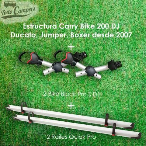Portabicicletas Fiamma Carry Bike 200DJ contiene 2 brazos y 2 railes