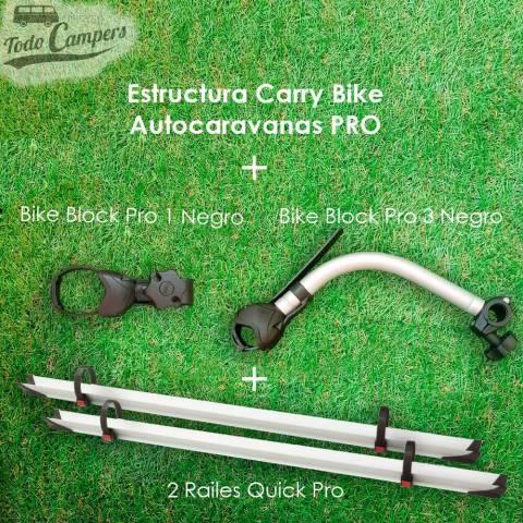 brazos y carriles de serie del Portabicicletas para Autocaravanas PRO - 2 BICIS
