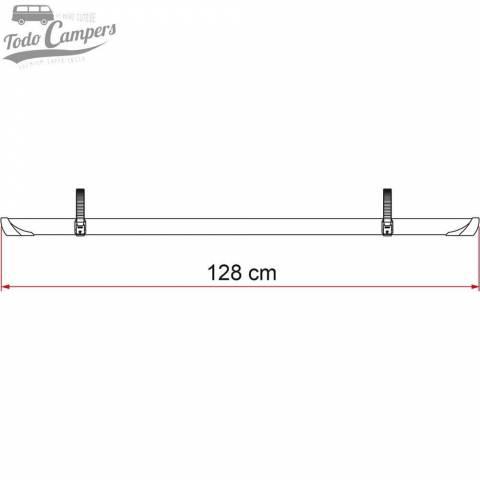 Medida del Rail Quick Pro Negro 128cm