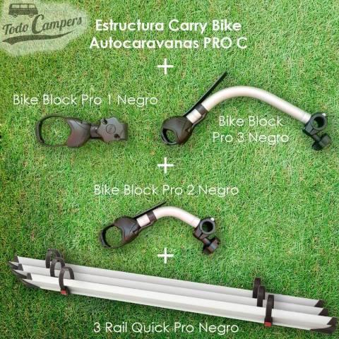 Brazos y railes de serie del portabicicletas Fiamma Carry Bike PRO C para Autocaravanas