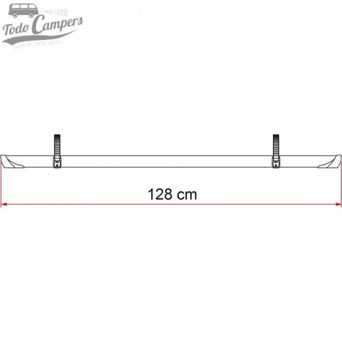 El Rail Quick Pro negro de serie mide 128 cm