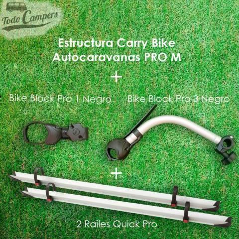 Contenido del Portabicicletas Fiamma Carry Bike PRO M para Autocaravanas para transportar 2 bicis