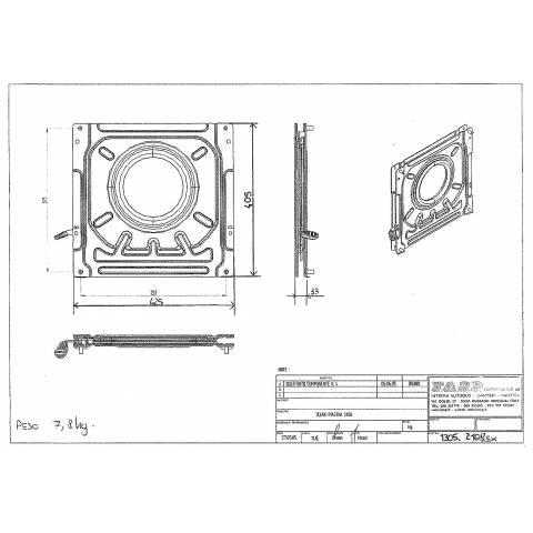 medidas base giratoria asiento volskwagen t4