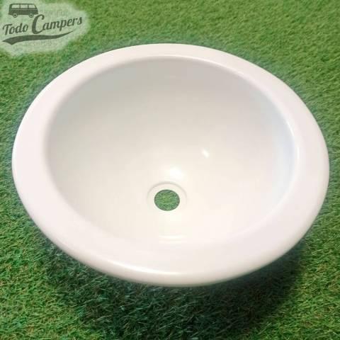 Lavabo redondo 290 mm encastrable - Blanco