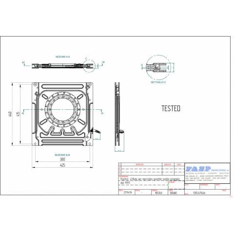 medidas para el montaje del asiento giratorio furgoneta para conductor modelo sprinter y volskwagen lt35 1995 a 2006